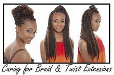 Hair care before, during and after braid extensions