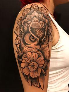 Tattoo Tattoo Tattoo Design Tattoo Tattoo … – tattoos for women half sleeve Badass Tattoos, Arm Tattoos, Body Art Tattoos, Tribal Owl Tattoos, Skull Girl Tattoo, Pretty Tattoos, Cute Tattoos, Beautiful Tattoos, Tattoo Set