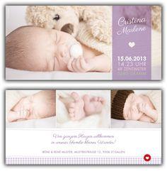 Cristina: 210x100 mm // Karte auch in «Jungen-Farben» erhältlich // (©Fotos: http://www.corinnechollet.ch)