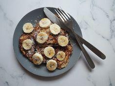 pancake banane et flocon d'avoine