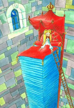 the princess and the pea illustration ~ by wilbert van der steen