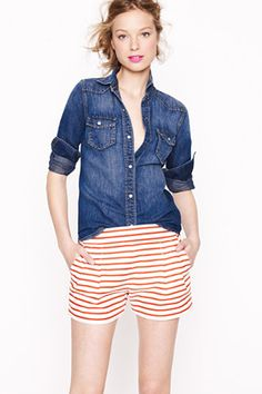 J.Crew Nautical Stripe Short
