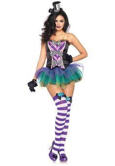 Sexy Tempting Mad Hatter Costume, Leg Avenue Fancy Dress - Leg Avenue Costumes at Escapade