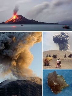 Anak Krakatau Indonesia.....the mother...mt. Krakatau is very famous volcano since hundreds years ago which claimed thousand human lives....and the sound of its eruption heard till across the continents. The ashes said spreading around the world n till the moon. There is a movie about the greatest eruption.