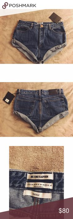 One Teaspoon vintage bandit shorts Brand New One Teaspoon bandit shorts, my friend bought these online and ordered the wrong size (she's a 27 not a 30). Price is negotiable but please don't low ball! And no Trades !! Comes in the same bag it was received in!! One Teaspoon Shorts Jean Shorts