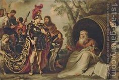 Alexander and Diogenes - Cornelis De Vos - Oil Painting Reproductions