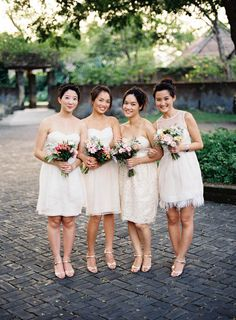 White Bridesmaids Dresses | photography by http://stevesteinhardt.com/