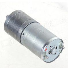 ZnDiy-BRY 25GA-80 DC 12V 80RPM / DC 6V 40RPM High Torque Gear Motor - Silver. Color Silver Brand ZnDiy-BRY Model 25GA-80 Quantity 1 Piece Material Iron English Manual / Spec No Other Features Voltage: DC 12V / 6V; RPM: 80RPM / 40RPM; Length: 68mm; Diameter: 25mm; Shaft length: 9.5mm; Shaft diameter: 4mm; Torque: 3kg/cm. Packing List 1 x Gear motor. Tags: #Electrical #Tools #Arduino #SCM #Supplies #Motors