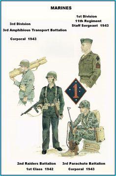 USMC - 1th & 3rd Division, 1942.43