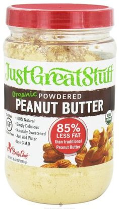 Just Great Stuff Organic Powdered Peanut Butter (Great to add to Shakes)