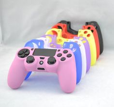 Silicone skin for PS4 (Playstation 4) gamepad For PS4 Skin Sticker $0.6~$3.0