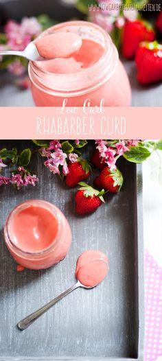 Homemade Rhabarber Curd #lowcarb #zuckerfrei #glutenfrei #abnehmen www.lowcarbkoestlichkeiten.de