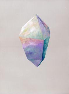 Rebecca Chaperon   Purple Crystal #9