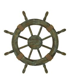 Loving this Bronze & Brown Ship's Wheel Wall Art on #zulily! #zulilyfinds