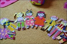 Jumbo size paper dolls with make-your-own-clothes!