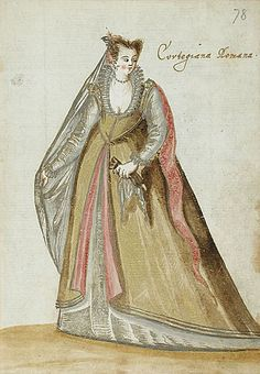 A Roman Courtesan, c.1595 from an unknown book.