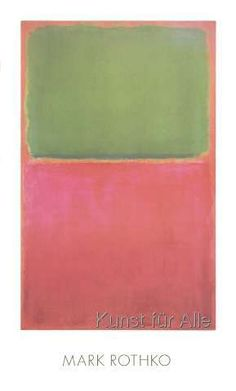 Mark Rothko - Green, Red, on Orange