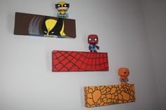 Marvel Superhero Room Decor or Wall Art. Wolverine, Spiderman, and Thing