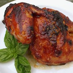 """Huli Huli Chicken - Marinade:  ¼ c. soy sauce, ¼ c. ketchup, ¼ c. dark brown sugar, ¼ c. pineapple puree, 2 tbsp. milk, 2 tbsp. rice wine vinegar, 2 cloves minced garlic,  1.5"""" ginger root, minced to a paste.  Brush onto chicken, grill over med hot coals for 40 min, turning every 5 min and brushing with marinade."""
