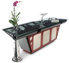 Cool Desk Made from Vintage Airplane Parts