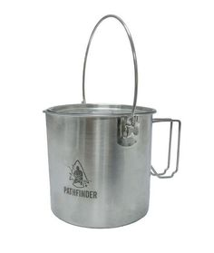 The Pathfinder Stainless Steel Pot Cooking Kit is light weight, durable, and has the capacity to cook a hearty meal for a small family. Fire Ready, Stainless Steel Pot, Survival Food, Survival Tips, Pot Lids, Diy Food, Food Tips, Bushcraft, Food Grade