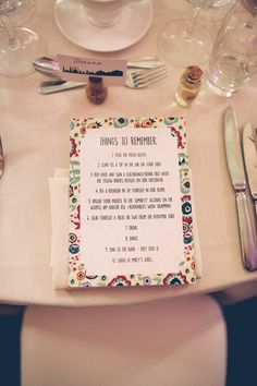 Floral Stationery Instructions Colourful Fun London Wedding http://storyandcolour.co.uk/