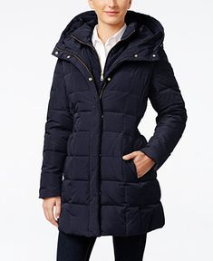 Cole Haan Signature Hooded Down Puffer Coat - Coats - Women - Macy's
