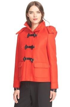 kate spade new york hooded wool coat available at #Nordstrom