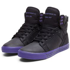 8fa053c3ed00 Supra Skytop High Black Purple Purple Mens Trainers Free UK Supra Footwear