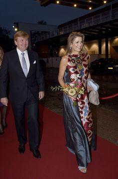 Maxima Et Willem Alexander Des Pays Bas À Amsterdam, Le 15 Septembre 2017