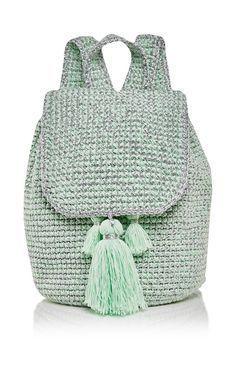 Mint Cote D\'azur Backpack by 7II for Preorder on Moda Operandi