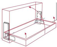 hidden hinges with hydraulic dampeners for opening stage. For use when constructing Murphy beds, but need a similar hinge system for fold-up-against-the-wall dining table.