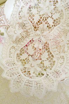 Beautiful Vintage Chemical Lace Doily by Jenneliserose on Etsy