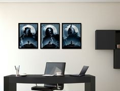 DESTINY poster set, Trio poster, Warlock print, Hunter video game, Titan Game, Art illustration, Destiny room, Office poster, Gift for him by PosterInvasion on Etsy