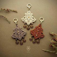 Macrame Earrings, Macrame Jewelry, Macrame Bracelets, Micro Macrame, Photo Jewelry, Creations, Arts And Crafts, Personalized Items, Unique