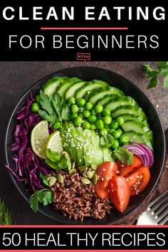 35 Clean Eating Recipes For Beginners Clean Eating is a healthy way to achieve your weight loss goals but like most diets you need a plan. Heres a few of my favorite tips and quick prep clean eating meals that are easy to make! Clean Eating Menu, Clean Eating Recipes For Weight Loss, Weight Loss Meals, Clean Eating For Beginners, Clean Eating Breakfast, Breakfast Ideas, Clean Eating Meal Plan, Eating For Weightloss, Clean Eating Lunches