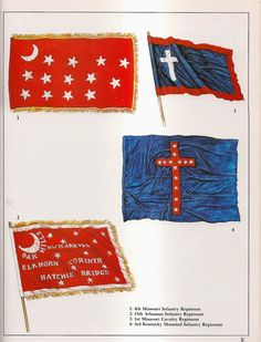 ACW Confederate: Confederate battle flags, by Rick Scollins.