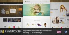 Download and review of Constitute - WooCommerce Responsive Theme, one of the best Themeforest eCommerces themes