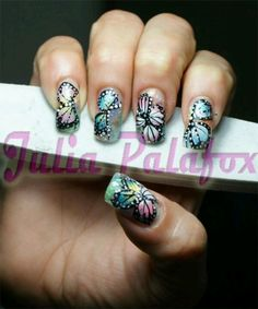 Butterfly nails :)
