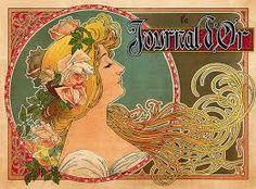 Resultado de imagen para art nouveau poster