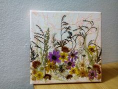 Pressed flower canvas