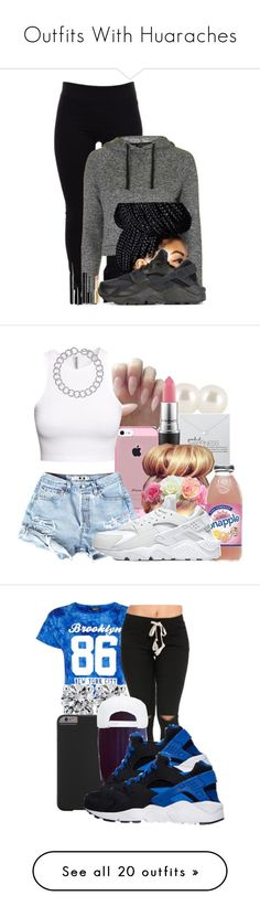 """""""Outfits With Huaraches"""" by barbiedatrillest ❤ liked on Polyvore featuring Helmut Lang, Marc Jacobs, Topshop, Chanel, Napoleon Perdis, NIKE, Henri Bendel, Dogeared, MAC Cosmetics and H&M"""