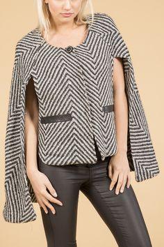 - Herringbone Cape - Pack of 3 Herringbone, Cape, Cashmere, Luxury, Blouse, Long Sleeve, Sleeves, Collection, Women