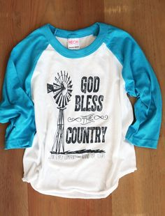God bless the country WINDMILL RAGLAN KIDS - Junk GYpSy co.
