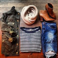 Fall outfit. NEED those booties.