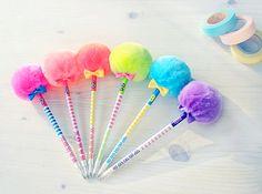 Cute kawaii pens.. I want them for my hair!!!