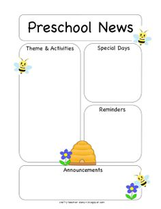 Preschool Newsletter Template | The Crafty Teacher | Newsletter ...