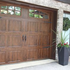 Wood garage doors #garage #garagedoors