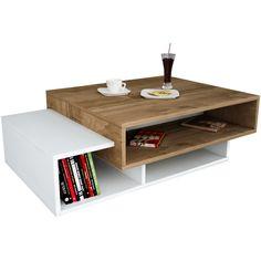 Wooden Art - Masuta de cafea - Tab - Alb