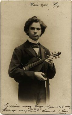Visiting card of Czech violinist and composer Jan Kubelík (1880-1940) at a young age #violin #music #classicalmusic #violinist